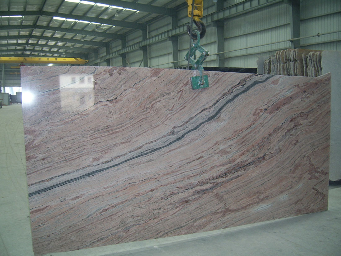 Illusion Red Granite Slabs Polished Granite Slabs for Kitchen