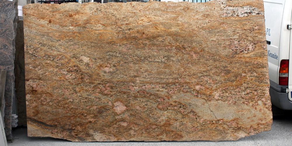 Imperial Gold Granite Slab Polished Indian Granite Slabs