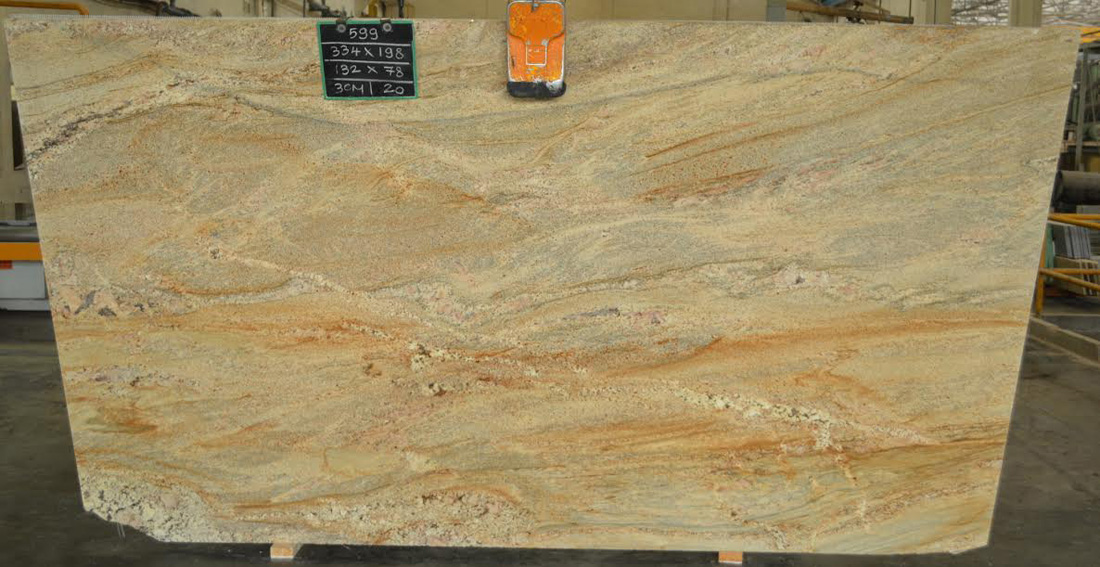 Imperial Gold Granite Slabs Yellow Granite Polished Slabs