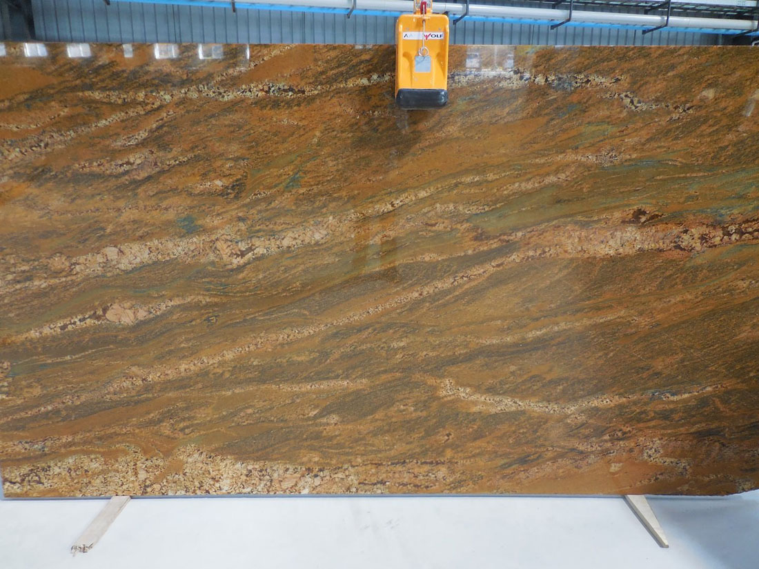 Imperial Gold Slabs Polished Yellow Granite Slabs