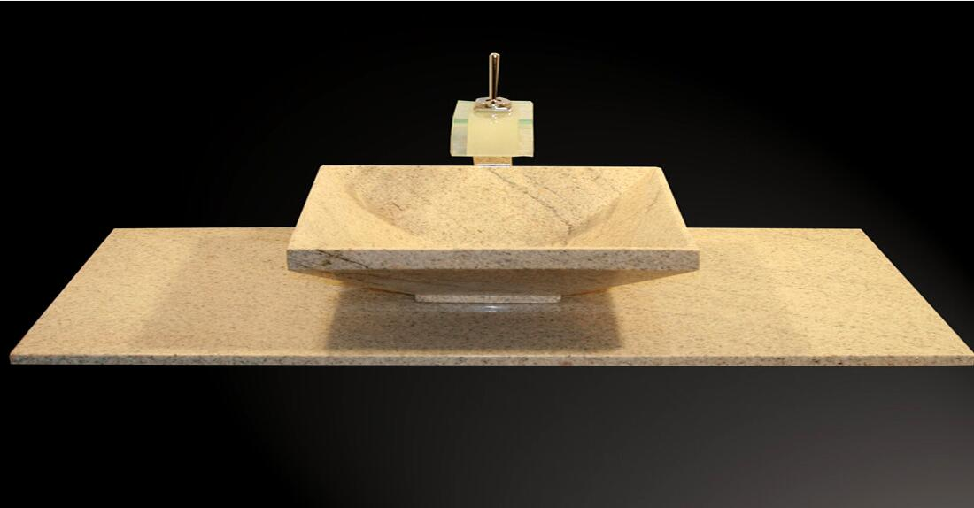 Imperial White Granite Sinks IW 43 55x40x15