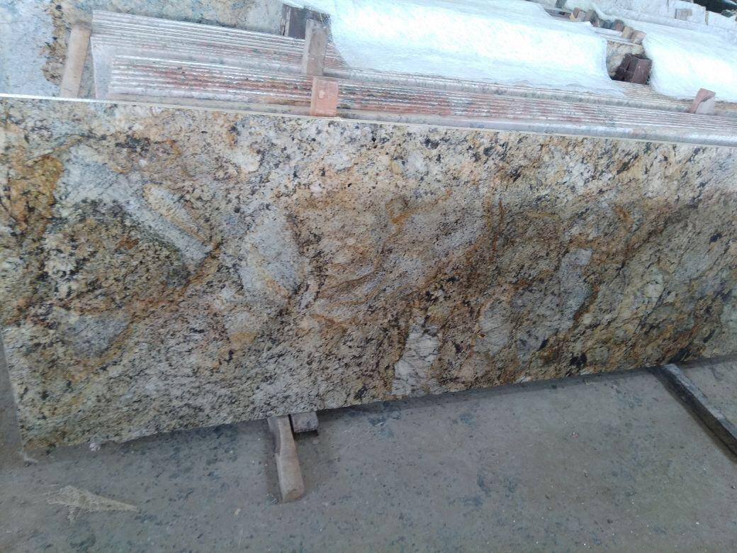 India Alsaka Gold Granite Slabs