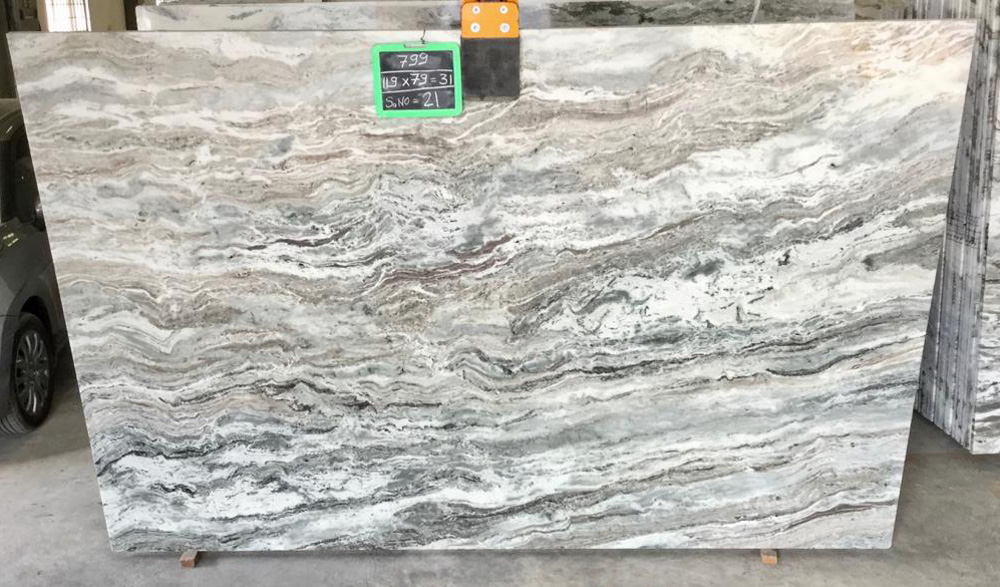 India Brown Fantacy Marble Slabs Competitive Brown Marble Slabs