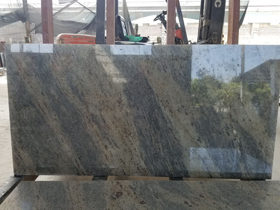 India New Kashmir White Panther River White Granite Tiles Slabs