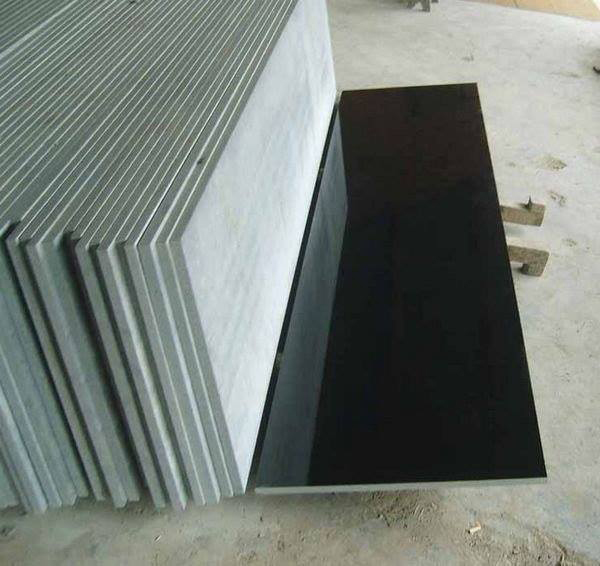Indian Absolute Black Granite Polished Countertops
