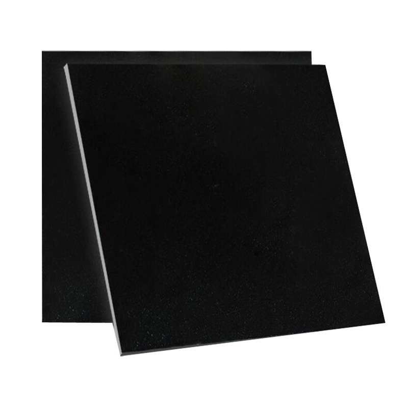 Indian Absolute Black Granite Tile Polished Black Granite Flooring Tiles
