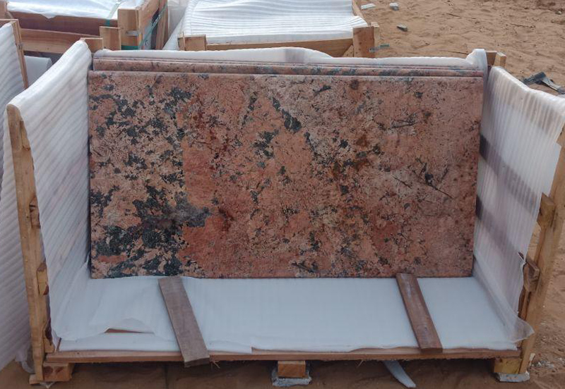 Indian Alaska Pink Granite Tiles for Flooring