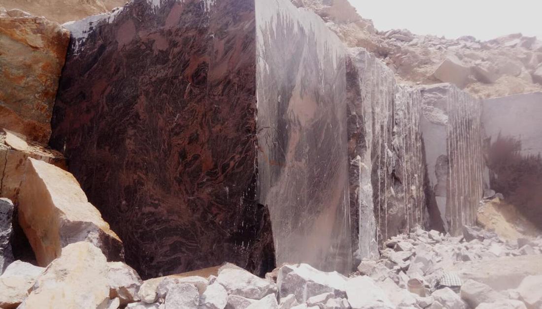 Indian Aurora Granite Blocks Brown Natural Granite Blocks