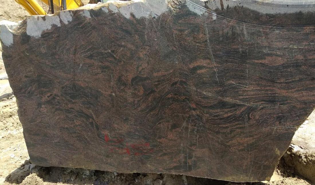 Indian Aurora Granite Blocks Natural Stone Granite Blocks