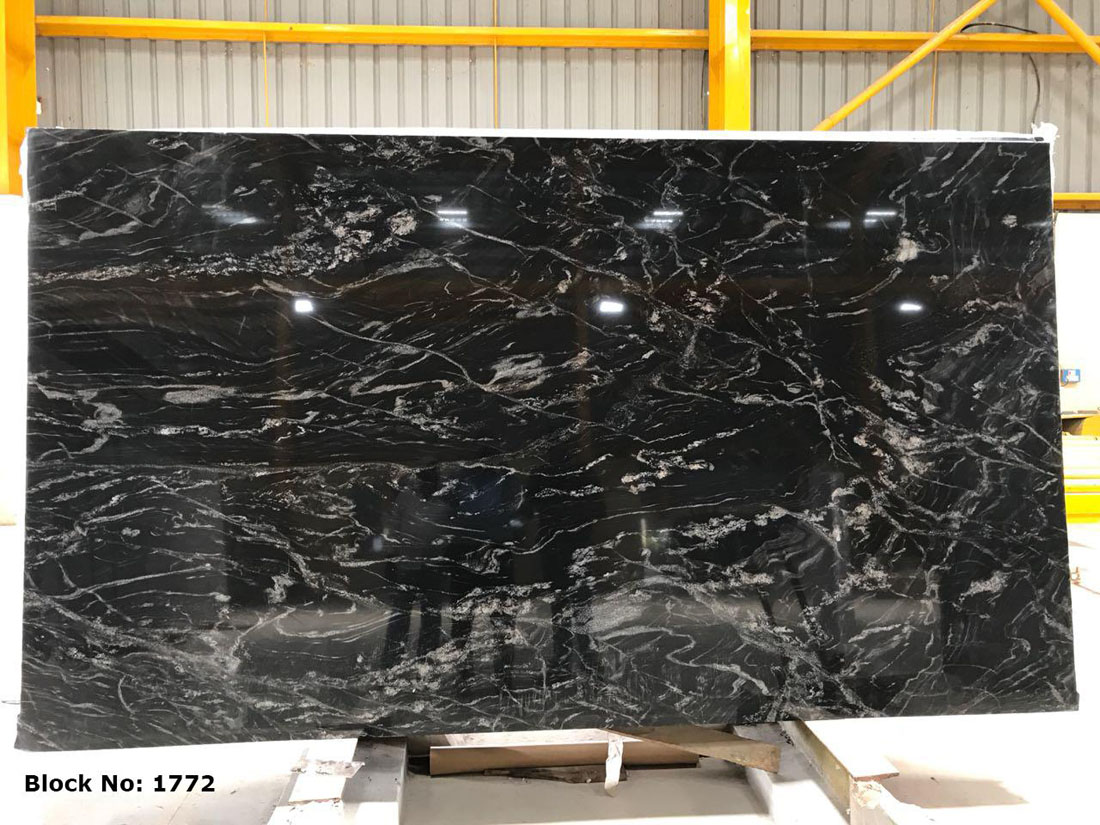 Indian Black Forest Granite Slabs