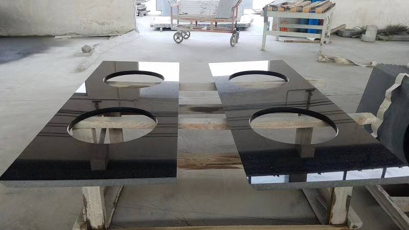 Indian Black Granite Vanity Tops from China Supplier