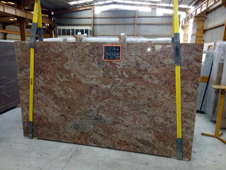 Indian Brown Granite Slabs Rosewood Slabs
