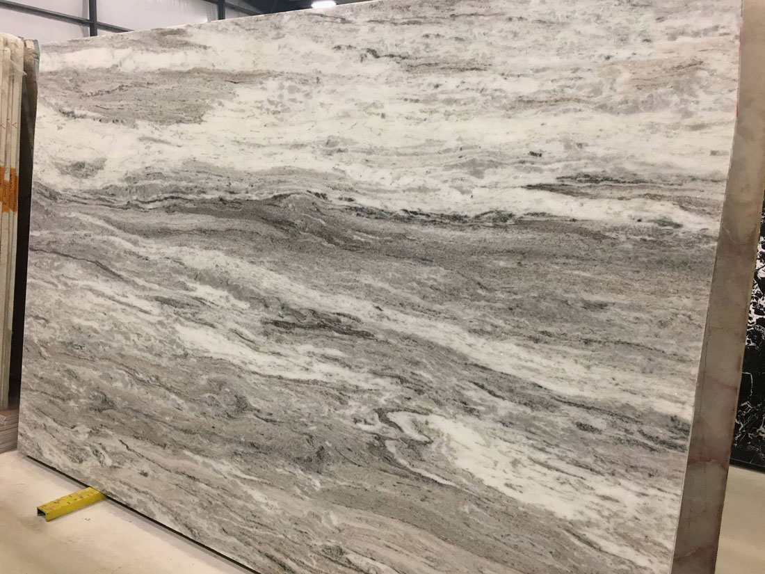 Indian Fantasy Brown Leathered Marble Slabs