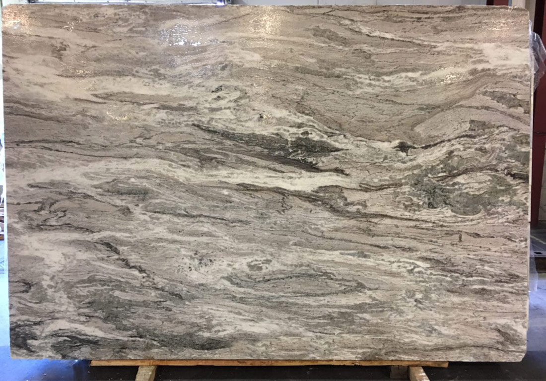 Indian Fantasy Brown Marble Slab for Countertops