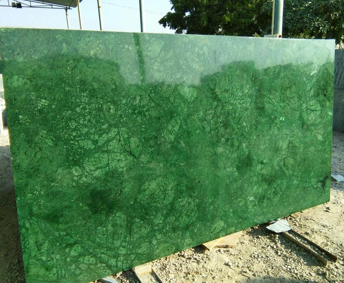 Indian Green Marble Polished Natural Stone Slabs