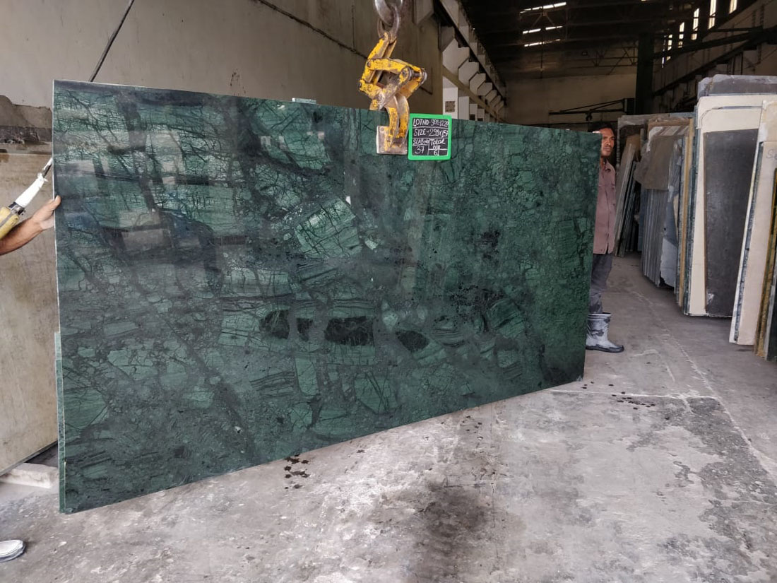 Indian Green Marble Slabs Polished Marble Slabs