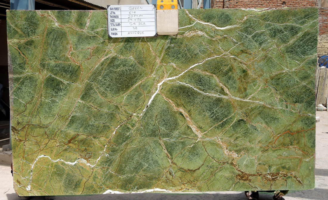 Indian Green Marble Slabs Rainforest Green Marble Slabs