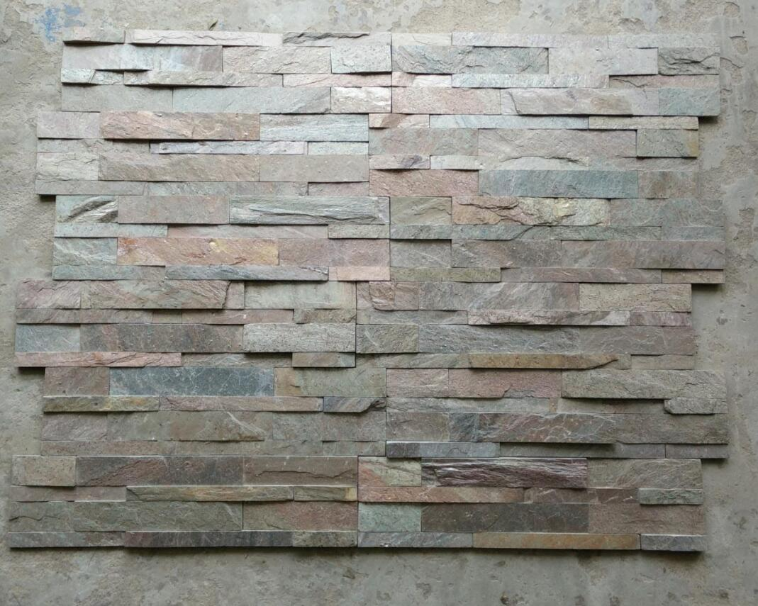 Indian Multi Color Slate Culture Stone for Walling