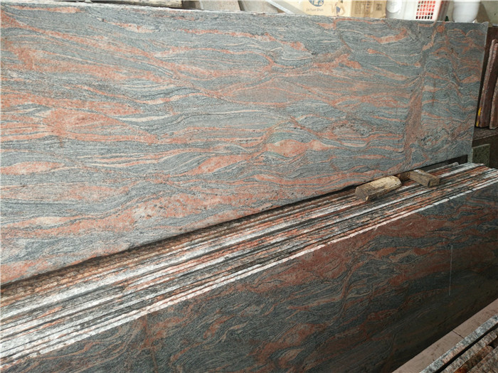 Indian Multicolor Red Granite Beautiful Countertops