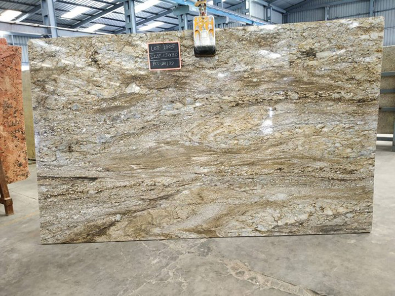 Indian Polished Blue Dunes Granite Slab