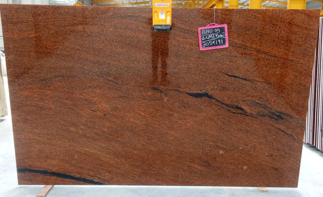 Indian Polished Granite Multicolor Red Granite 2cm Slabs