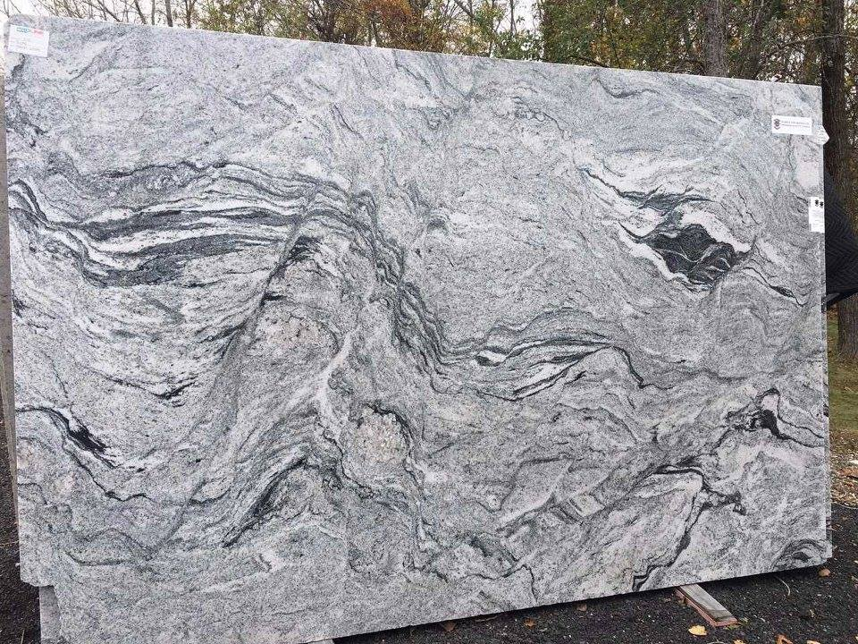 Indian Polished Granite Slabs Silver Cloud Granite