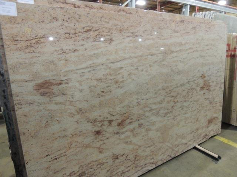 Indian Polished Shivakashi Ivory Granite Slabs