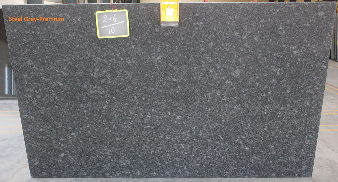 Indian Steel Grey Granite Slabs Polished Granite Slabs