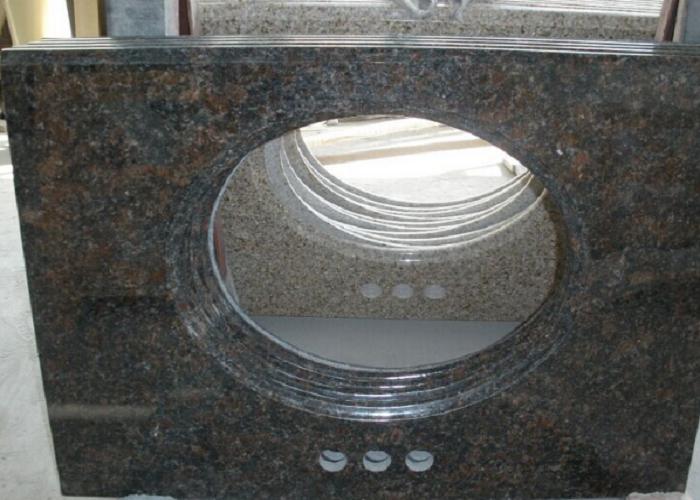 Indian Tan Brown Polished Coffee Brown Granite Vanity Tops