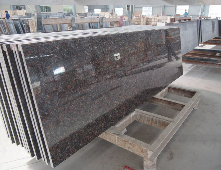 Indian Tan Brown Polished Coffee Brown Prefab Granite Countertops