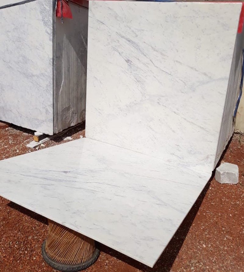 Indian White Carrara Marble Tiles Polished White Tiles