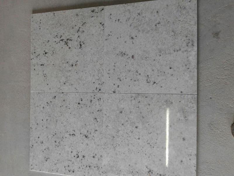 Indian White Galaxy Granite Tiles Polished Flooring Granite Tiles