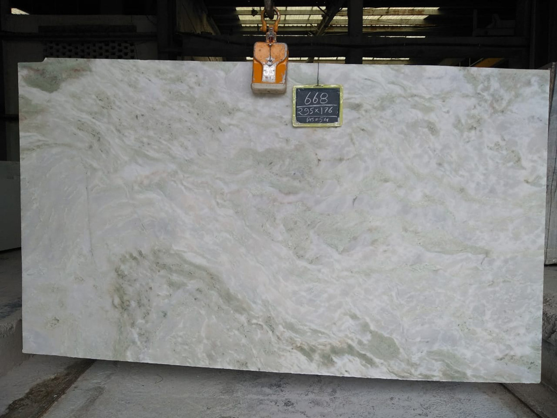 Indian White Marble Slabs Mystic White 2cm Slabs