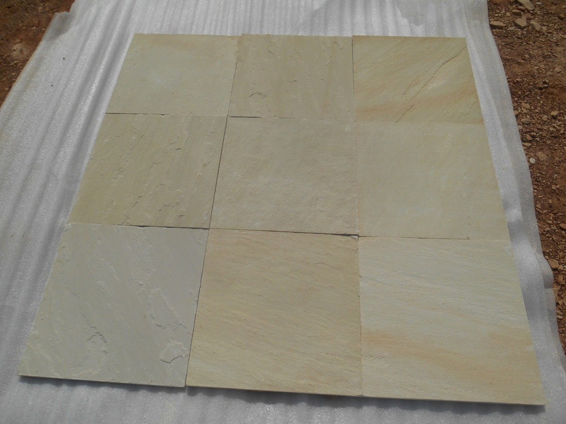 Indian Yellow Mint Sandstone Tiles Yellow Stone Flooring Tiles