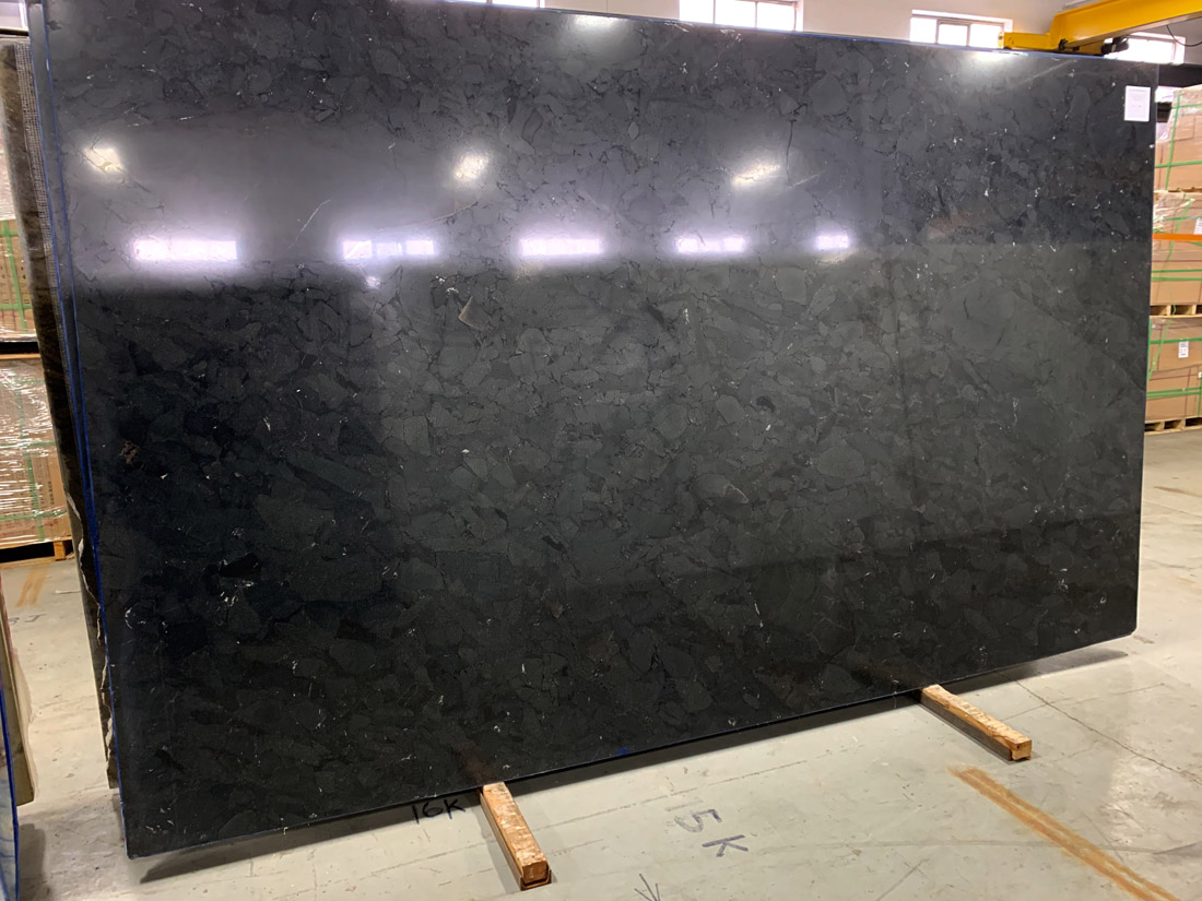 Infinity Black 2cm Quartzite Slabs Brazil Polished Quartzite Slabs