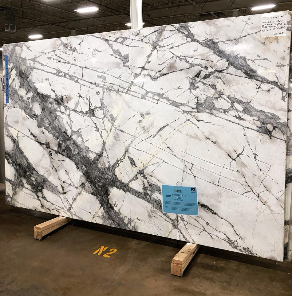 Invisible Grey Marble Polished Marble Slabs