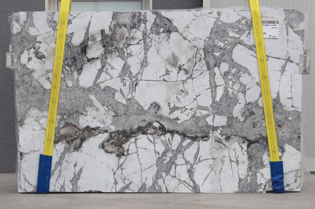 Invisible Light Marble Slabs Brazilian White Marble Slabs