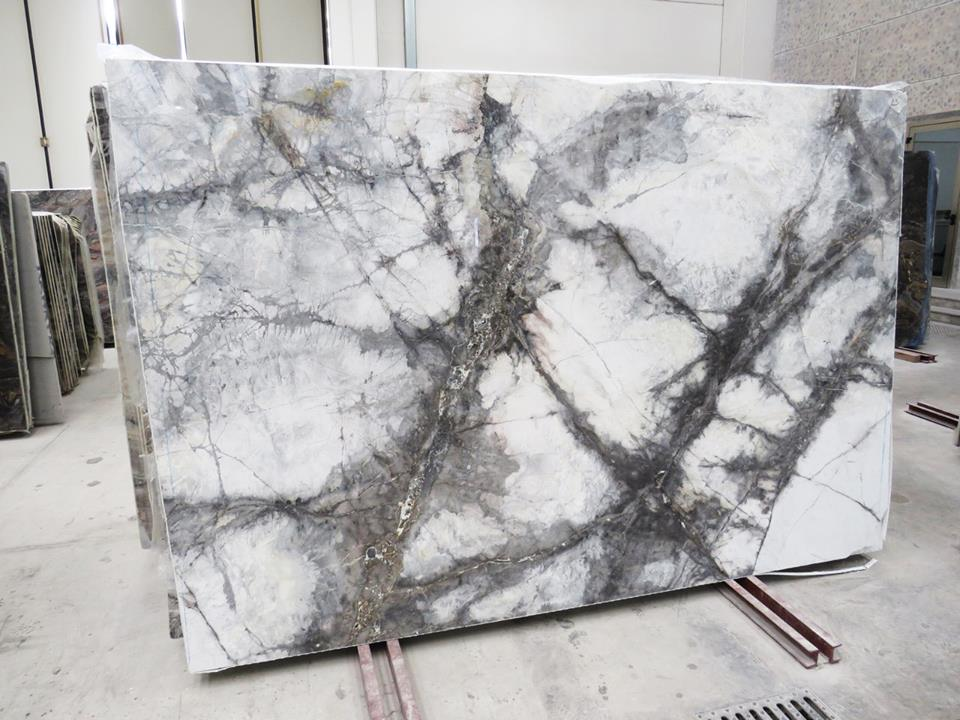 Invisible Marble Slabs Polished White Marble Slabs