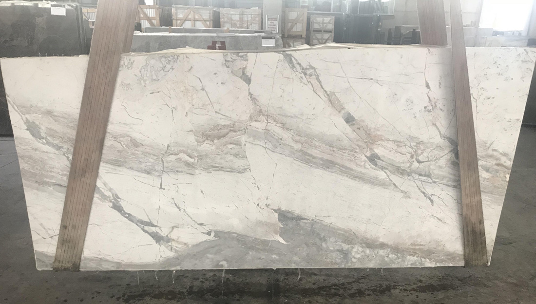 Invisible White Marble Slabs from China