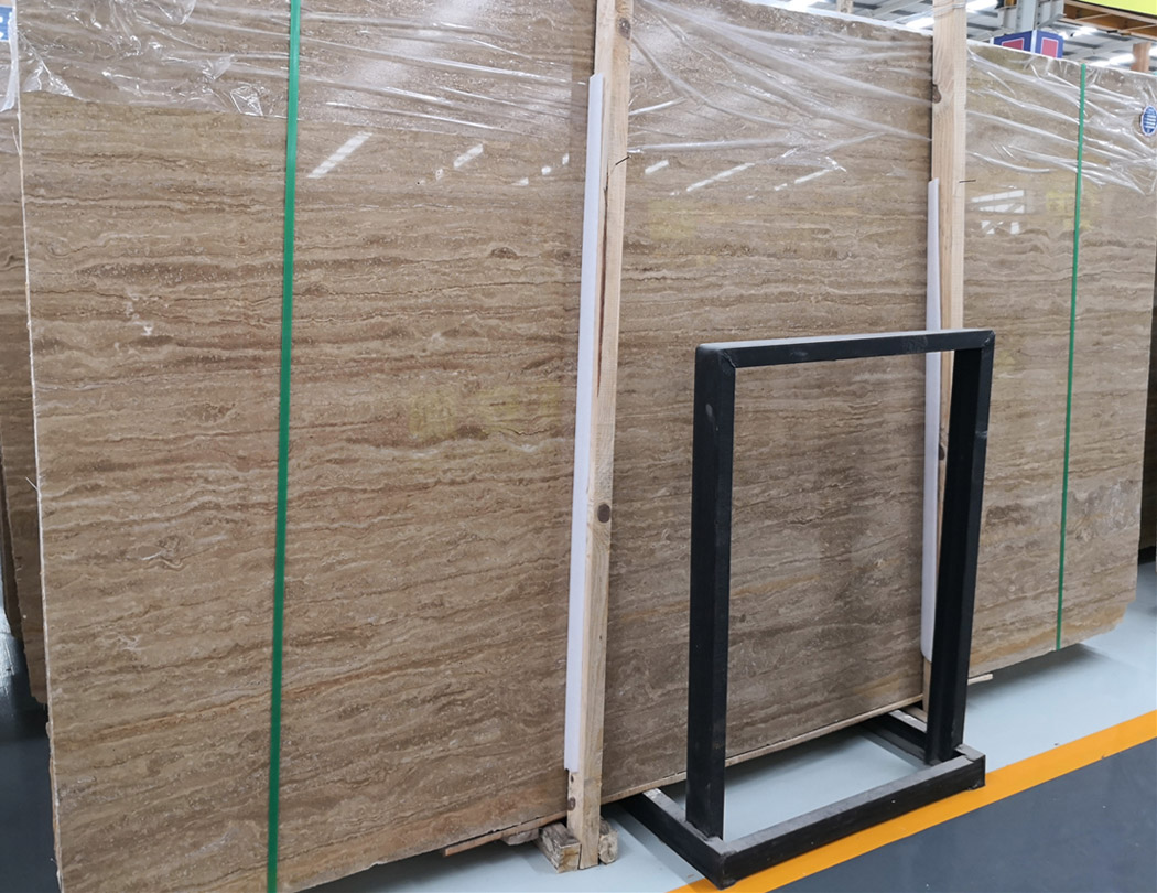 Iran Beige Classic Travertine Slabs with Top Quality