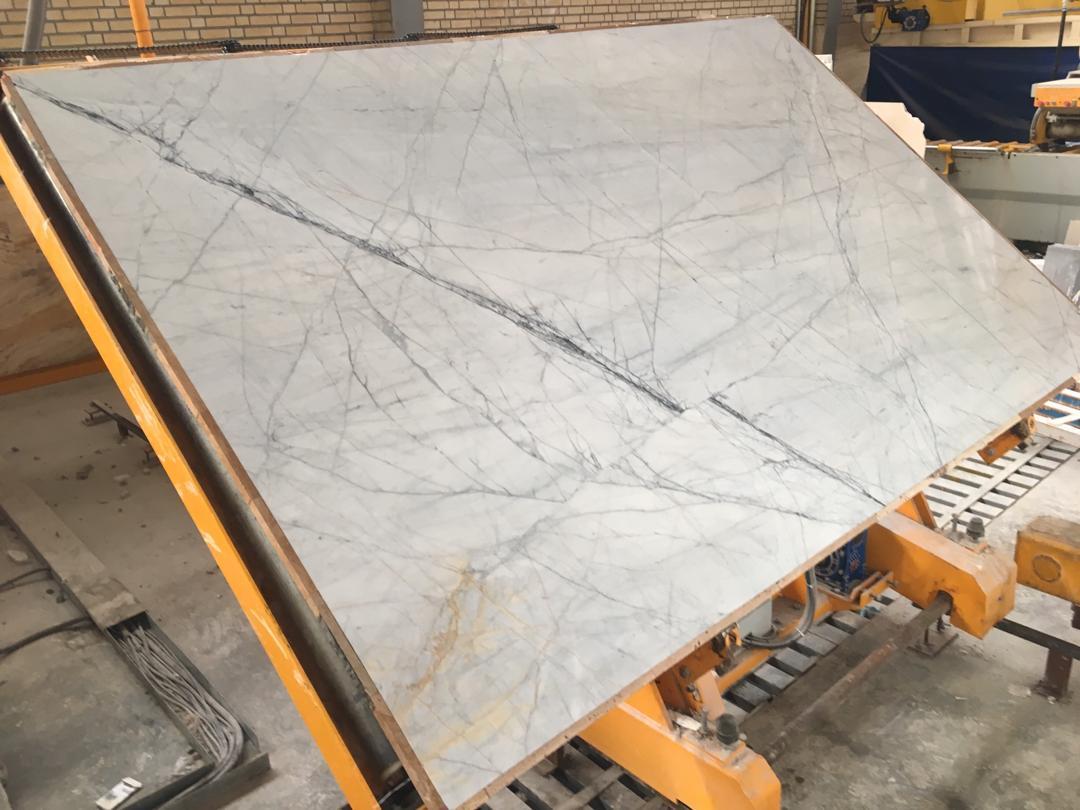 Iranian Polished White Slabs Bianco Marble Slabs