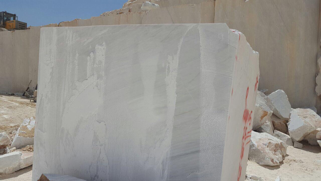 Iranian White Marble Blocks