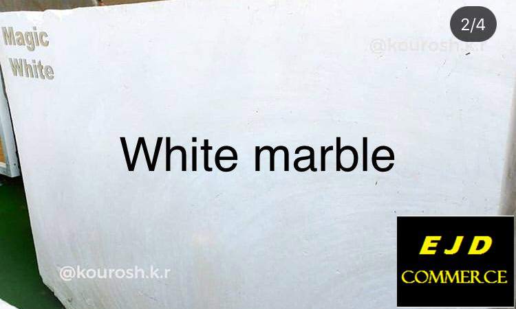 Iranian White Marble Natural Blocks for Export