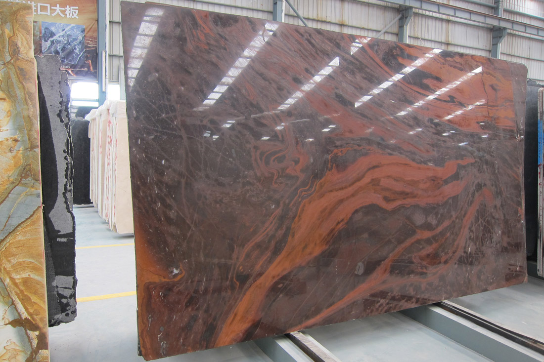 Iron Red Natural Quarztite Slabs