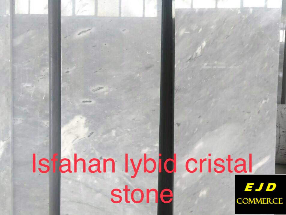 Isfahan Lybid Cristal Stone Tiles White Polished Marble Tiles