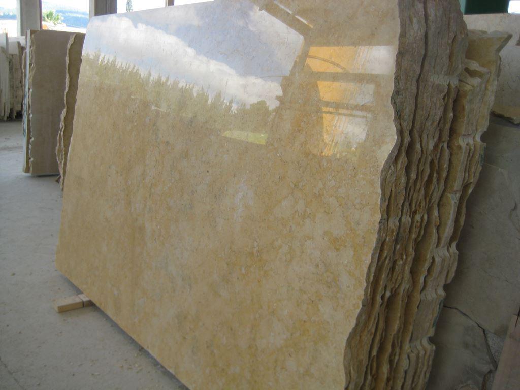 Israel Jerusalem Gold Dark Veins Polished Limestone Slabs