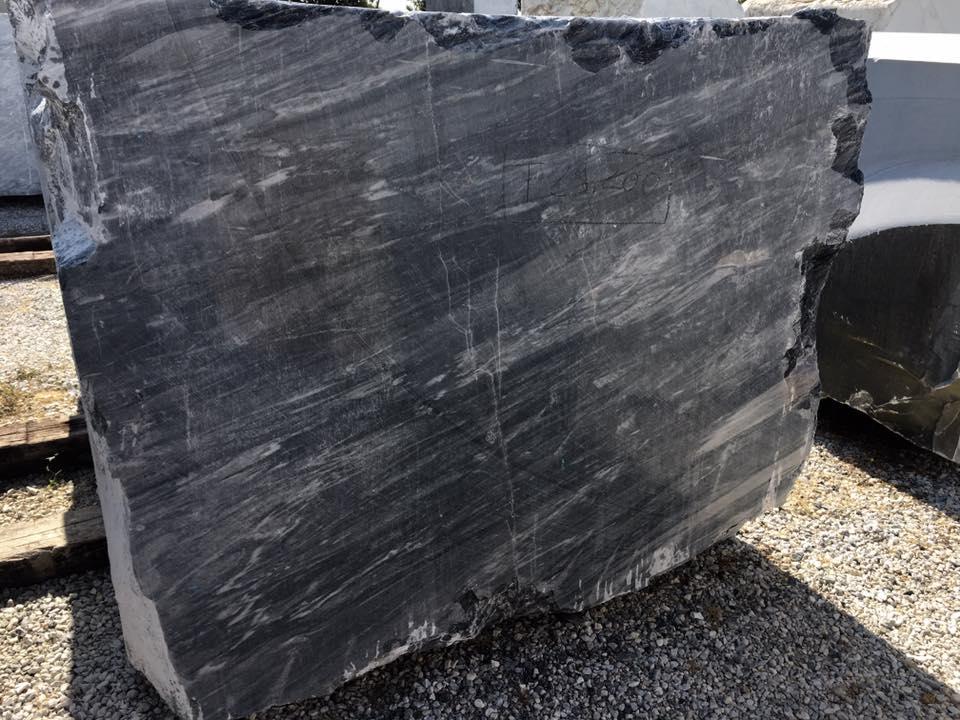 Italian Bardiglio Nuvolato Black Marble Blocks