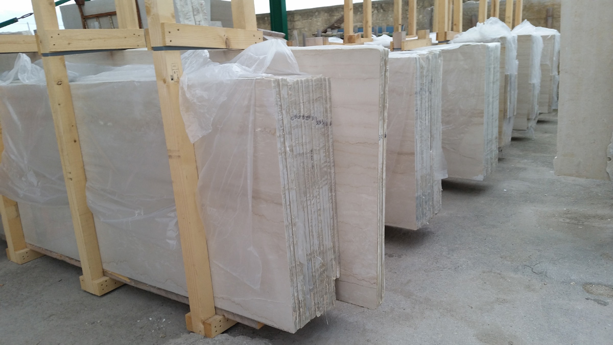 Italian Beige Marble Slabs in Stock