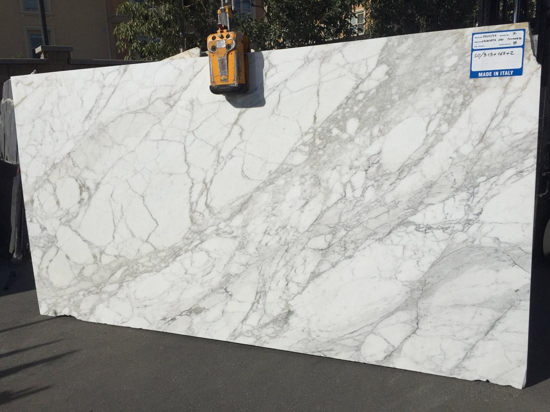 Italian Calacatta Oro Polished Marble Slab for Vanity Top