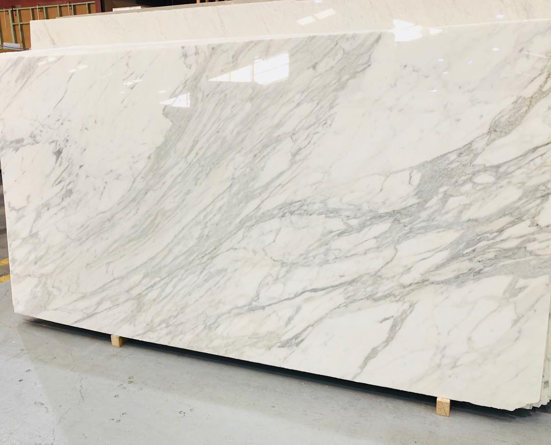 Italian Calacatta Oro White Marble Slabs with High Quality